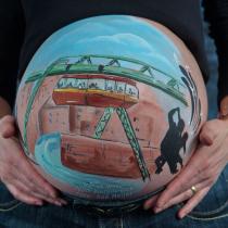 bemalter Babybauch Wuppertal